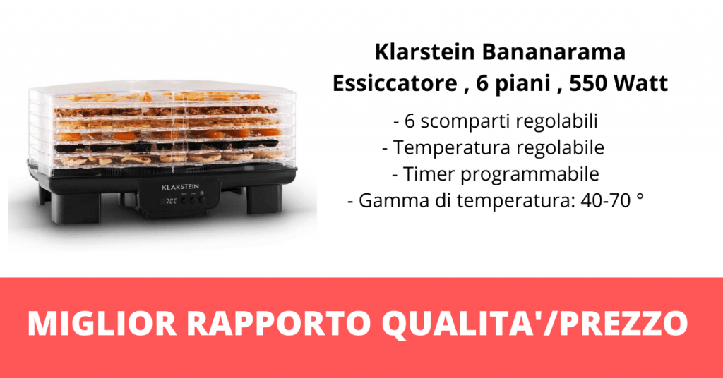 Essiccatore per alimenti Klarstein Bananarama